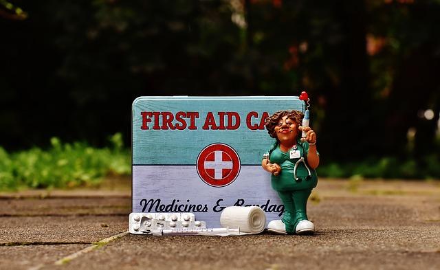 zdravotní sestra s lékárničkou