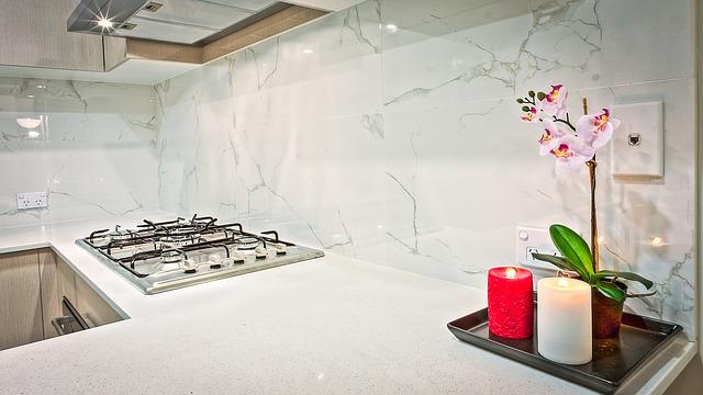 kuchyňská deska v plynem