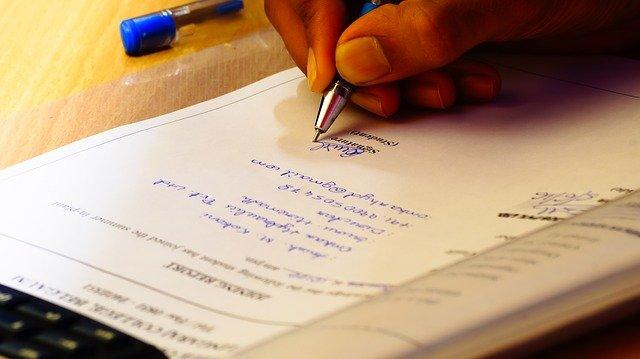 podepisování listiny