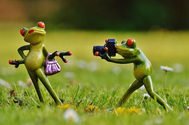 žáby modelka a fotograf