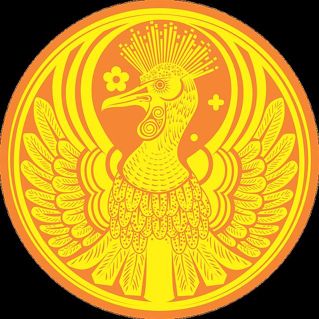 pták na minci