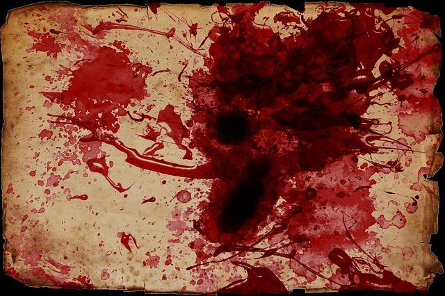 papír od krve