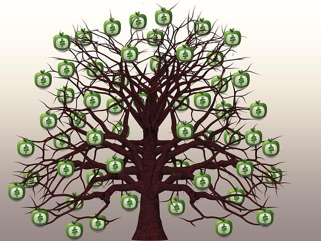 peníze rostou na stromech