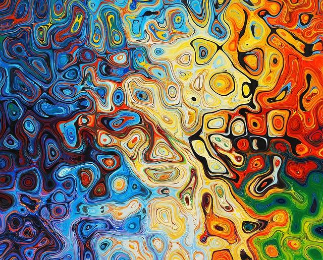 Barevný abstraktní obrazec