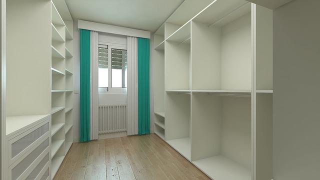 na míru vytvořené skříňky a prostory pro prádlo