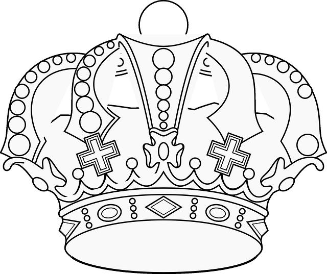 Černobílá kresba-císařská koruna