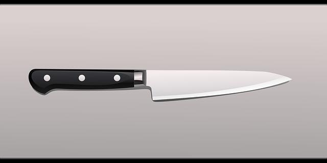 široký kuchyňský nůž